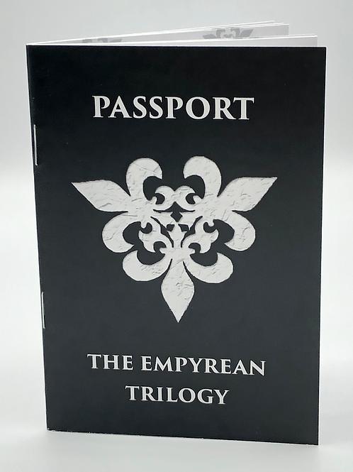 The Empyrean Trilogy Passport and Sticker Sheet