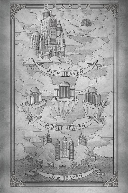 11 x 17 Heaven Map Print