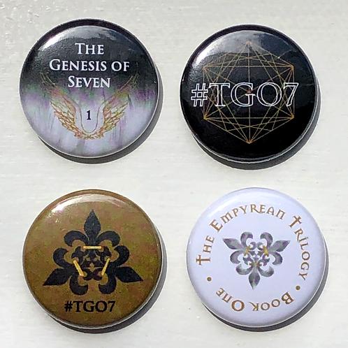 The Empyrean Trilogy Pins