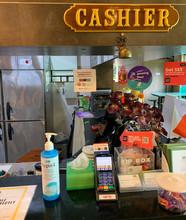 Sanitizer at Cashier Area.JPG