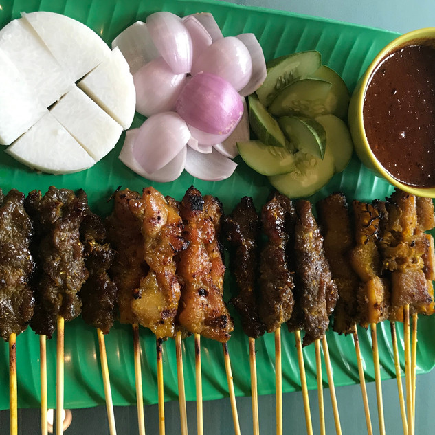 Satay( Chicken, Beef, Mutton and Babat )