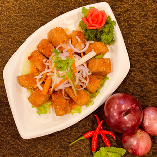 Fried Tofy with Thai Chilli Sauce.JPG
