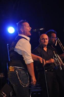 Gianluca Galvani con Paolo Belli