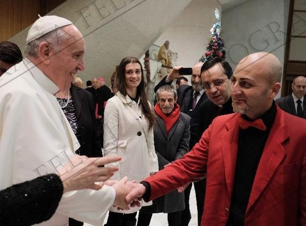 Gianluca Galvani Papa Francesco