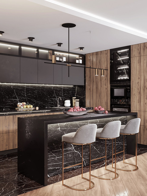 Kitchen Design With Marble And Granite