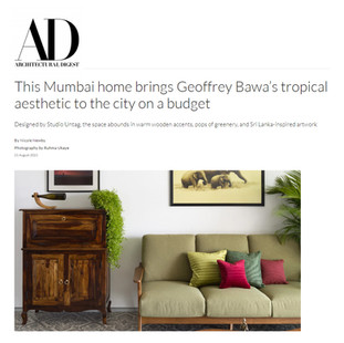 This Mumbai home brings Geoffrey Bawa's tropical aesthetic to the city on a budget