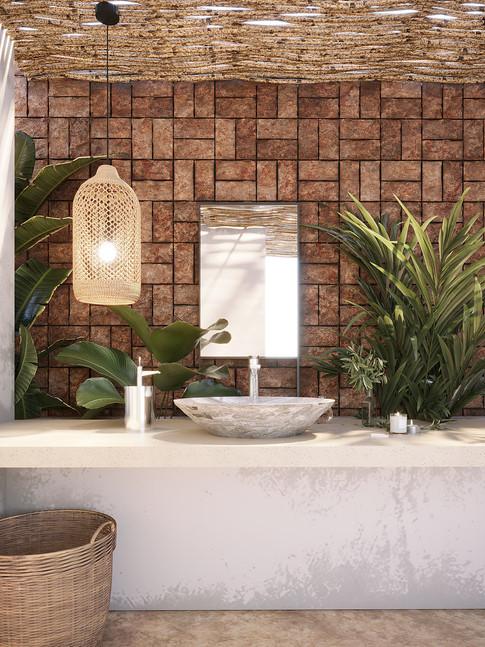 Lovely Boho Style Bathroom