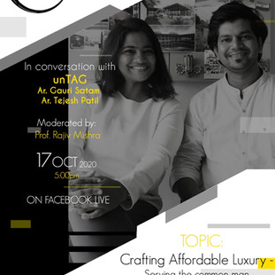 unTAG is in conversation with young talented minds of alma mater, Sir J. J. College of Architecture