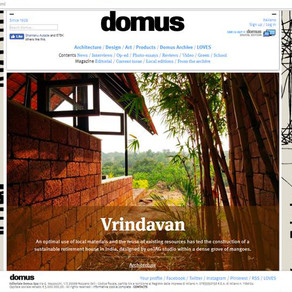 Vrindavan featured in Domus Web !