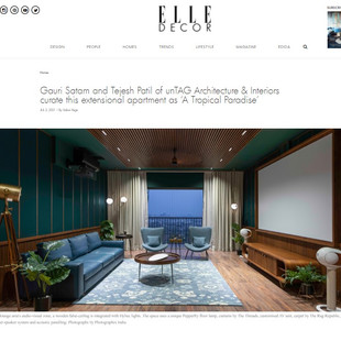 Hello! our recently completed Interiors, Tropical Paradise is featured on ELLE DECOR