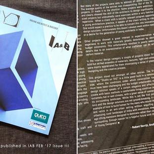 Vrindavan featured in IAB magazine's Feb 2017 edition
