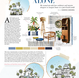 Our concept for House for the new normal (Post Covid) has been featured in Grazia India- August 2020
