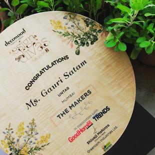 Ar. Gauri Satam shortlisted for Decowood Design Diva Awards