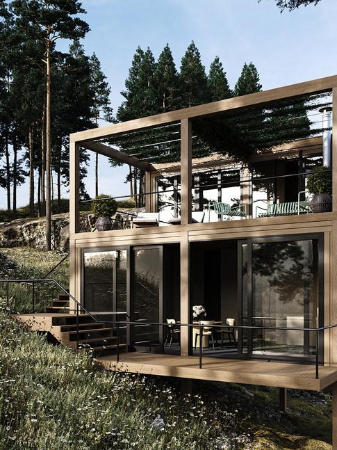 Stunning Modern Forest Cabin