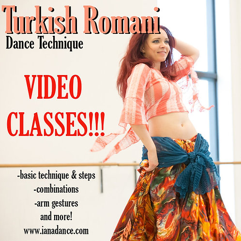 Turkish Romani Dance Technique - Package of 5 classes