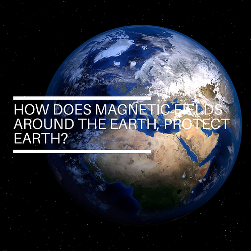 How does magnetic fields around the earth, protect earth?