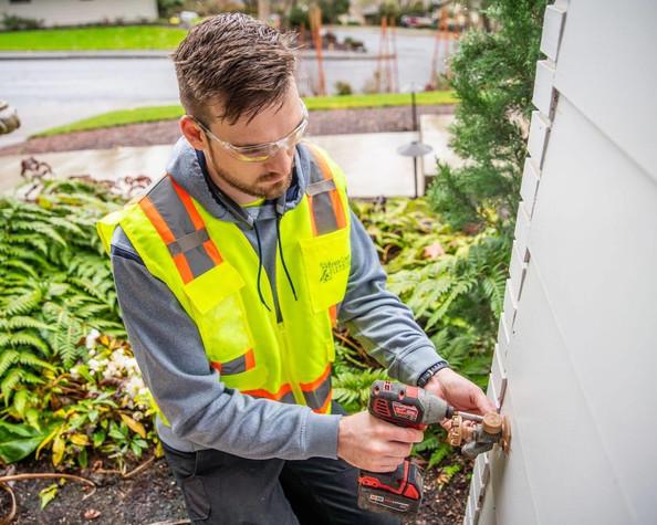 Repair of outdoor bib faucet.
