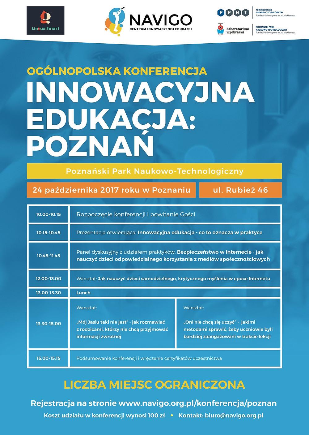 Plakata Innowacyjna Edukacja: Poznań