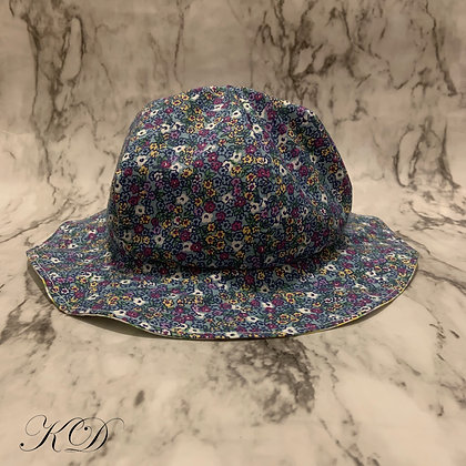 Blue Floral Toddler Hat