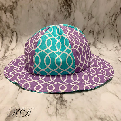 Lilac and Teal Baby Hat