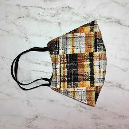 Adult Plaid Face Mask Size Large