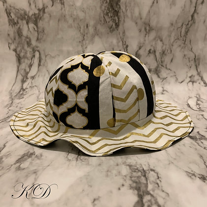 Gold and Black Mix and Match Toddler Hat