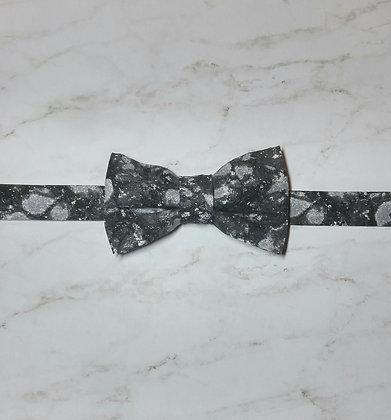 Black Snake Skin Crackle Bow Tie