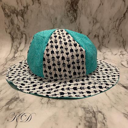 Teal Arrow Print Toddler Hat