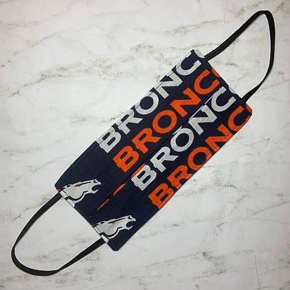 Adult Denver Broncos Face Mask Size Large