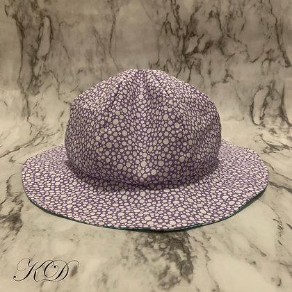 Lilac and Teal Polka Dot Baby Hat