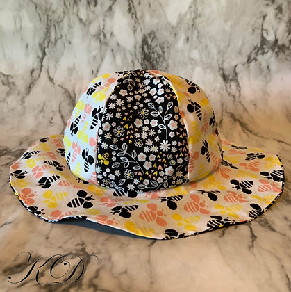 Floral Bumblebee Baby Hat