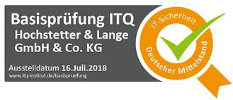 Hochstetter und Lange GmbH & Co. KG - Siegel Basisprüfung ITQ