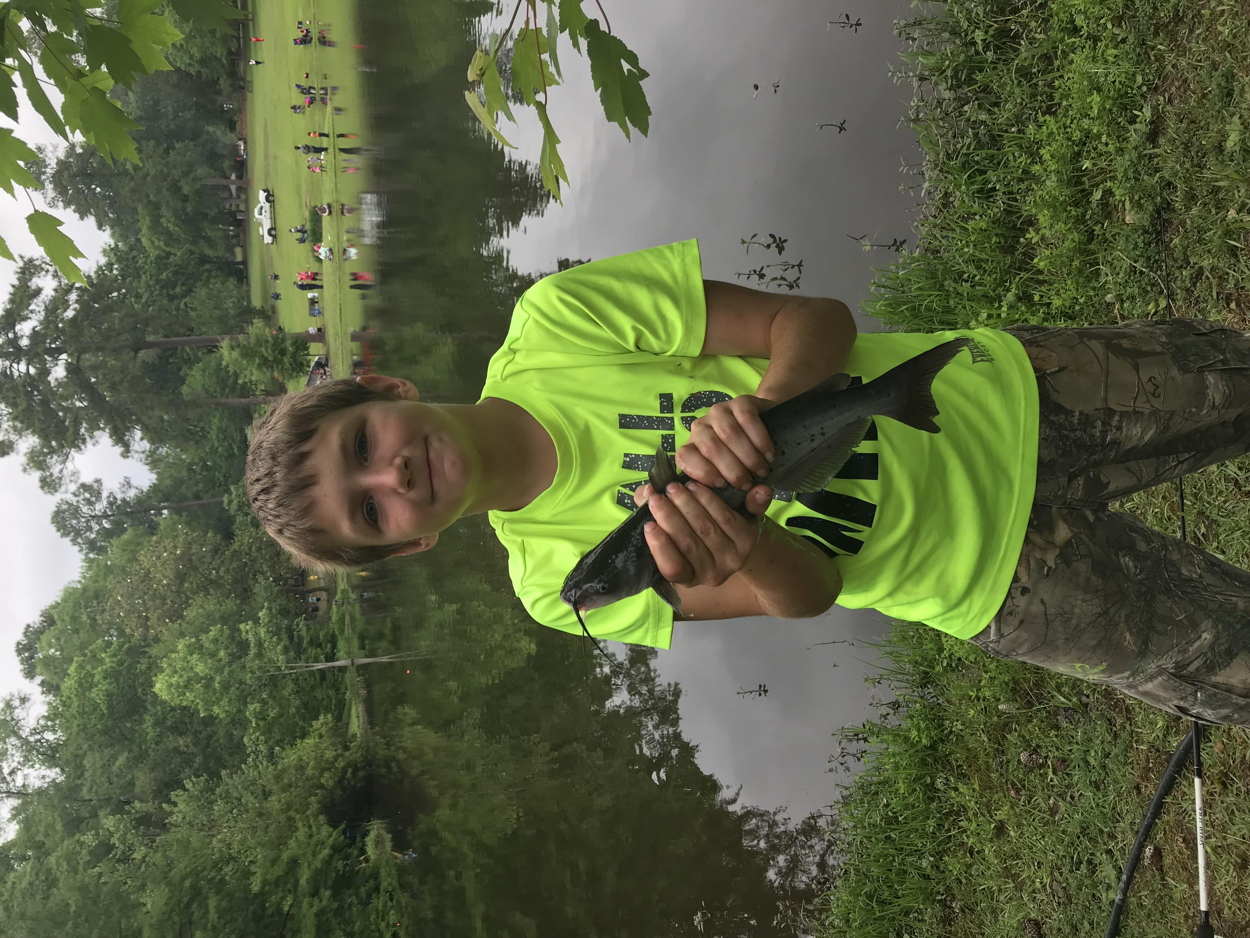 holding catfish