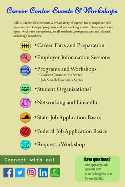 career center events and workshops