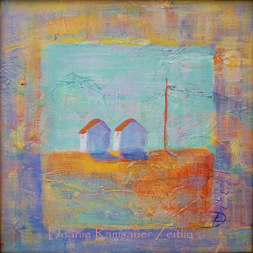 Two Houses - Acrylics
