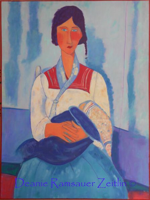 Gypsy Woman with Baby - Oils