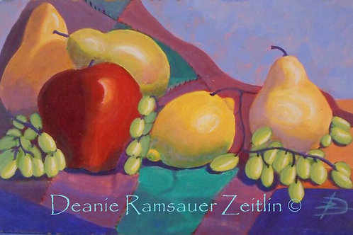 Fruit on Board - Acrylics