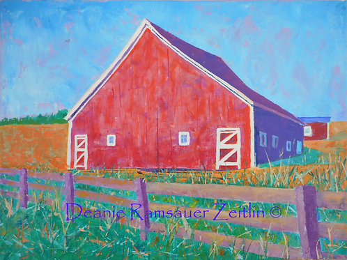 Red Barn - Acrylics
