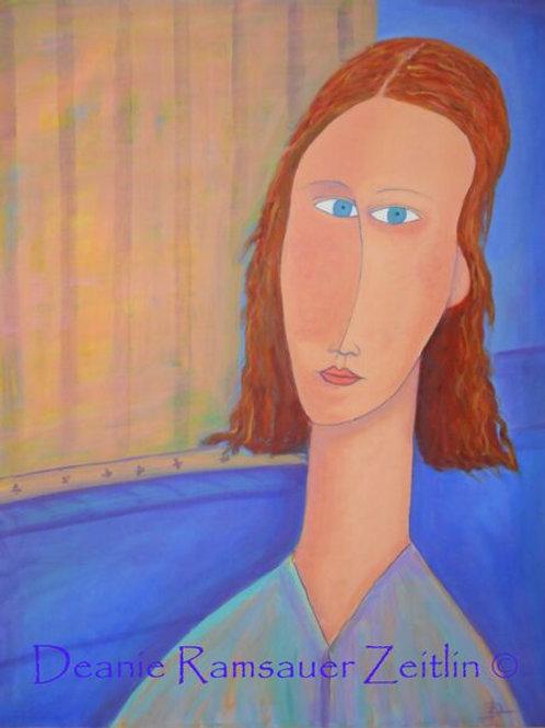 Ms. Blue - Oils