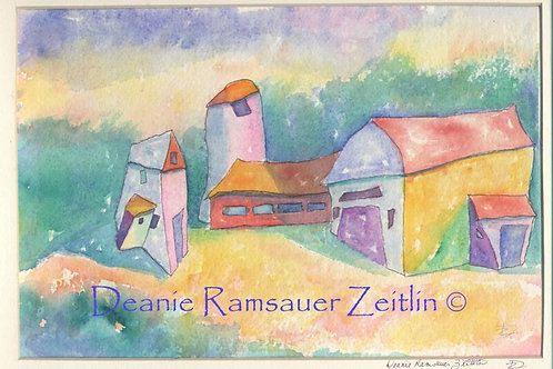 WC Barns - Watercolor