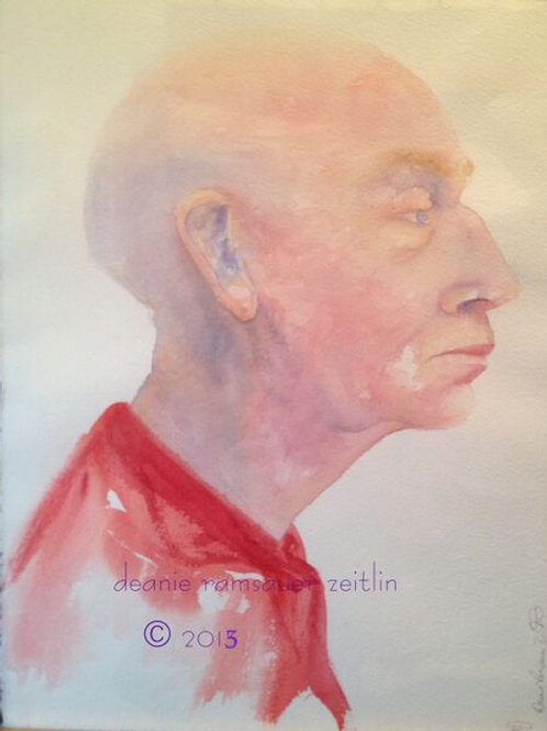 Man in Red - Watercolor