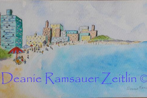 South Beach _ Watercolor