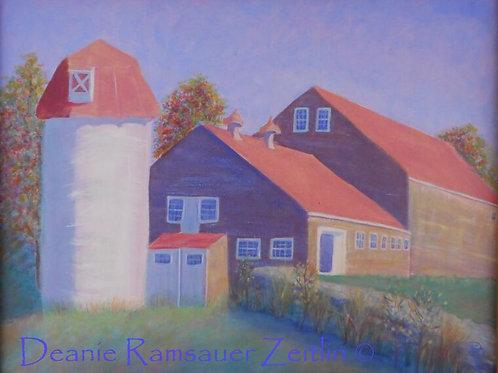 Two Barns & a Silo - Acrylics
