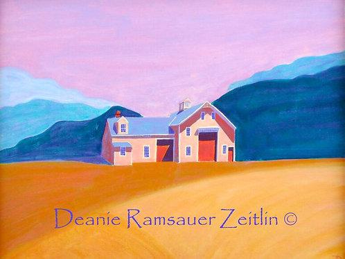 Pink Barn - Acrylics