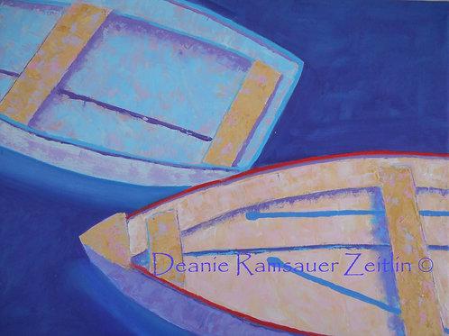 Boats II - Acrylics
