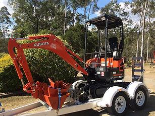 Hire a mini excavator in Jimboomba