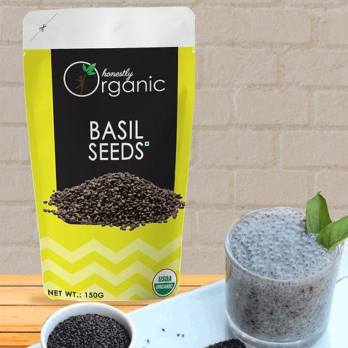 Honeslty Organic Basil Seeds/ Sabja/ Tukmaria Seeds