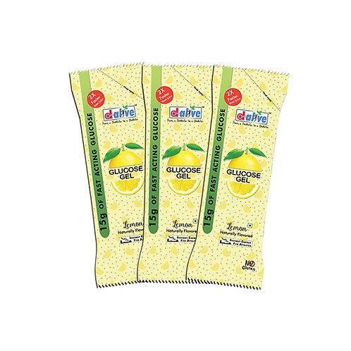 D-Alive 15g of Fast Acting Glucose Gel - Pack of 3 (Lemon)