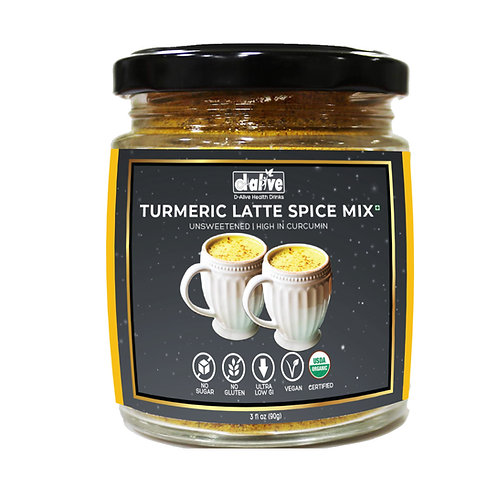 D-Alive Unsweetened Turmeric Latte Spice Mix