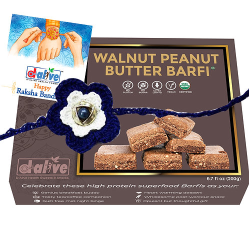 Walnut Peanut Butter Barfi - Rakshabandhan Gift Hamper